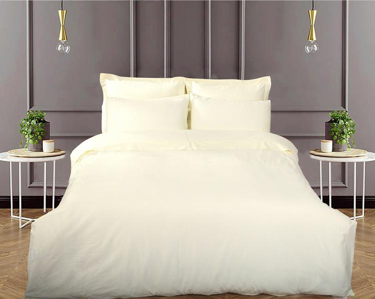 Наволочка LUXURY LINENS Basic Line Ivory 50х70+5