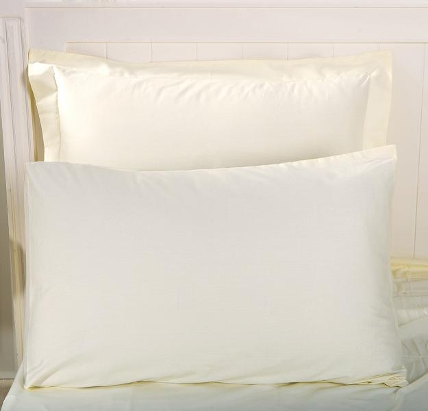 Наволочка LUXURY LINENS Basic Line Ivory