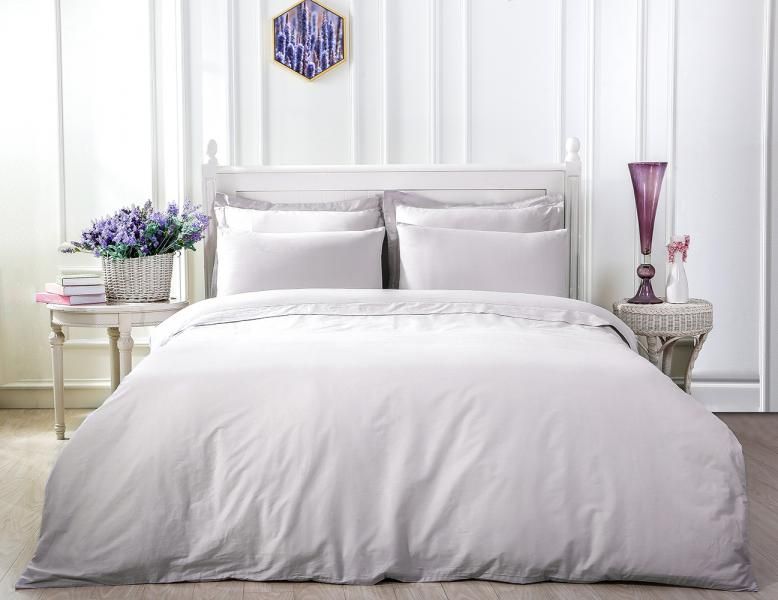 Наволочка LUXURY LINENS Basic Line Grey 50x70