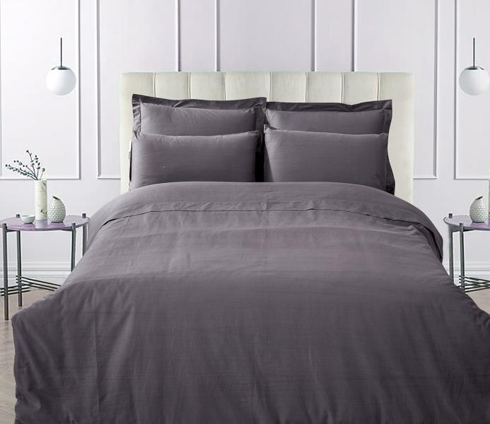 Наволочка LUXURY LINENS Basic Line Anthracite
