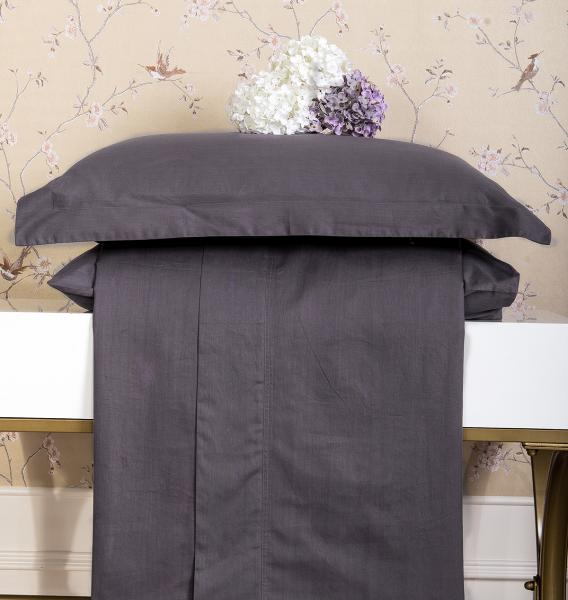 Простынь LUXURY LINENS Basic Line Anthracite 1.5 200x270