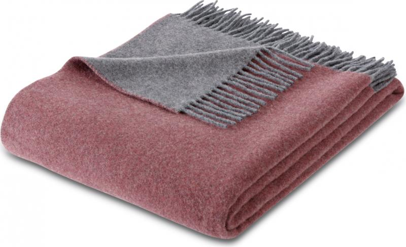 Плед  Biederlack Cashmere 732903 Rouge-Graphit